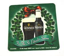 Guinness St. Patrick's Season USA BEER BIRRA BIRRA COPERCHIO SOTTOBICCHIERI COASTER