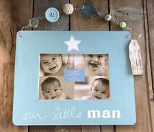 Our Little Man Blue Wood Picture Frame 4x6 Opening Cr Gibson Sandra Magsamen