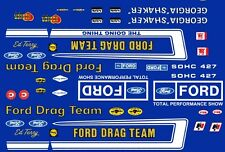 Official FORD Drag Team Mustang 1/64th HO Scale Slot Car Decals Georgia Shakeer