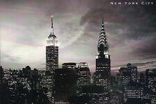 Empire State & Chrysler Building, Manhattan, New York City, NY Skyline, Postcard