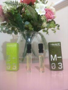 ESCENTRIC MOLECULES Molecule 03 Escentric 03 EDT Perfume samples 2x2ml🌺NEW BOXD