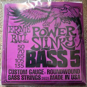 "ERNIEBALL EB2821 Power Slinky Bass 5' FT Set 050 "" -135 """