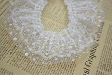 White Pleated Lace Trim Gathered Mesh Tulle Dot Wedding Dress Sewing Craft 5M