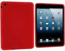 Soft Gel Skin Silicone Rubber Grip RED Case Cover for Apple iPad Mini 1 2 3