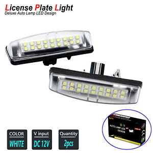 White LED License Number Plate Light Bulbs For 1997-2004 LEXUS Gs300/Gs430/Gs400
