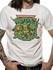 Teenage Mutant Ninja Turtles Gruppo T-shirt con licenza TOP BIANCO L