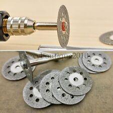 12pcs Diamon Saw Blades Cutting Sheet Drill Discs Mandrel Dremel Grinder Durable