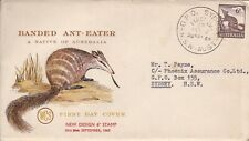 Afd2150) Australia 1960 Fdc Wesley, Banded Ant Eater, brown & yellow cachet, add