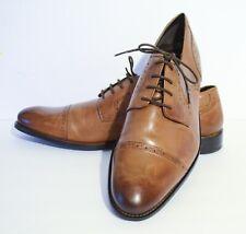 Stacy Adams® Prescott Mens Cap Toe Tan Leather Lace Oxfords Shoes Size 13M