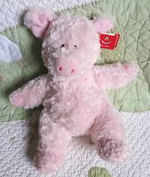 "Aurora Tubbie Wubbies Piggy Pig Pink Soft Fluffy Floppy Stuffed Toy NWT 11"""