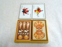 Vintage Double Deck Bridge Playing Cards Seashells Hallmark Made in USA