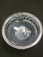 "NEW 14X7 REVERSE ""DEEP DISH"" WIRE SPOKE WHEELS LOWRIDER COMPLETE SET OF 4 14"""