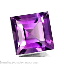 10mm x 10mm Natural Purple Amethyst Square Cut Gem Gemstone