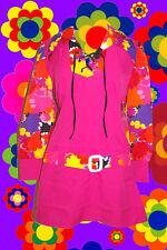 207 ✪ Hippie Costume psichedelica Panton pattern miniabito Retrò 60er 70er anni 44
