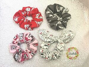 Set of 4 Hair scrunchies,hair accessories made from Disney 101 Dalmatians fabric