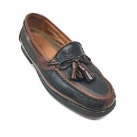 Men's Johnston & Murphy Passport Loafers Shoes Size 9.5 M Brown Black Leather G3