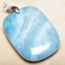 blu caraibi Larimar Diaspro Argento Sterling 925 gancetto 4.4cm CIONDOLO p10224