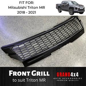 Front Mesh Grill for Mitsubishi Triton MR 2018 - 2021 Ute Black Grille