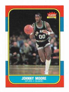 1986 Fleer - JOHNNY MOORE RC - San Antonio Spurs
