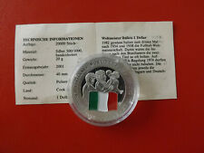 *Cook Island 1 Dollar 2001 Silber PP(500 -ca20g)*Fußball WM/Italien (Schub69)