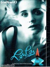 PUBLICITE ADVERTISING 115  1988  Loulou le nouveau parfum Cacharel Sarah Moon