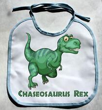 Personalized Monogram Custom Dinosaur Baby Boy Bib Shower Gift Keepsake bibs