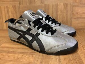 RARE🔥 Asics Onitsuka Tiger Mexico 66 Silver Black Leather 10 Men's Shoes HL7C2