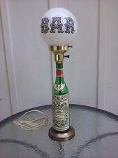 Martini & Rossi Vino Vermouth Bar Table Lamp Light Milk Glass Globe Vintage Rare