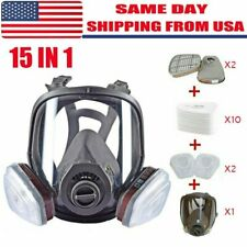 Us Full Face Gas Mask Painting Spraying Respirator Withfilters For 6800 Facepiece