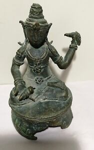 Antique Bronze Asia figure of Avalokiteshvara, H11.5cm for collection