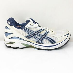 Asics Womens GT-2140 T955N White Blue Running Shoes Lace Up Low Top Size 9.5