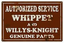 Vintage Antique Style Metal Sign Whippet Willys Service 18x30