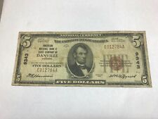 Danville Virginia , $10 American national bank & trust  , 1929 , fine
