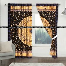 Indian cotton zodiac mandala door window drapes hanging hippie tapestry curtains