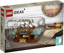 LEGO Ideas Ship in a Bottle 21313 Expert Building Kit, Snap Together Model Ship