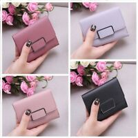 Womens Short Small Money Purse Wallet Lady Faux Leather Folding Coin Card Holder