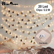 Photo Clips LED String Lights 20pcs Decorative Fairy Peg Battery Powered Instant
