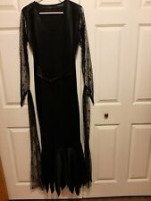 Women's Black Adams Family Vampire Dress Size Medium