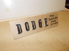 "Mopar NOS Hood Letter Set ""D O D G E"" 64 Dodge 880"