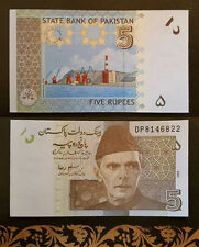 Billet pakistan 5 rupees banknote