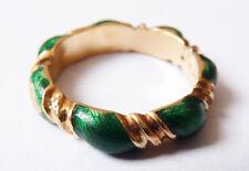 Bague alliance en OR massif 18k émail ZOLOTAS Greece Bijou ancien gold ring