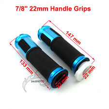 Blue Twist Throttle Hand Grips For ATV Quad Dirt Pit Bike Push Motorized Bicycle