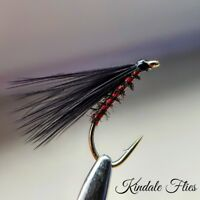 Red Holo / Peacock  Cormorant Size 12 (Set of 3) Fly Fishing Flies Fry