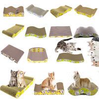 Pet Cat Scratching Post Toy Wave Shape Corrugated Paper Cat Kitten Scratch Board