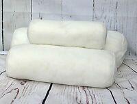 Round Hollowfibre Pillows Cervical Roll Neck Back Knee White Bolster Pillow New