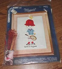Moppets Tennis is my Game Vogart Crafts Crewel Creative Stitchery Kit # 787G New