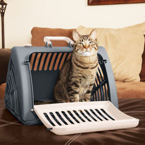 Pet Cat Puppy Handbag Portable Travel Carrier Tote Cage Bag Crate Box Pet Supply