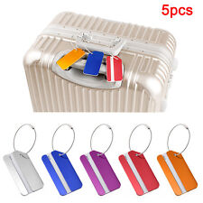 5Pc Aluminium Metal Luggage Suitcase Holiday Travel Tags Label Strong Durable