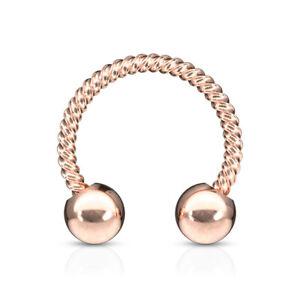 1pc Twisted Rope Style Circular Barbell Horseshoe Septum, Eyebrow, Nipple Ring
