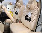 18pcsset Hello Kitty Cartoon Plush Car Cushion Universal Car Seat Cover Beige